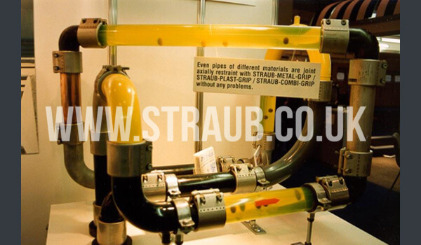 Straub Combi-Grip Pipe Coupling being used